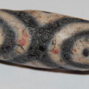 Терракотово-мандариновая бусина дзи